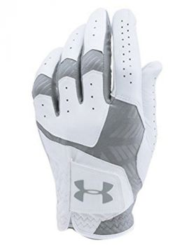 UNDER ARMOUR COOLSWITCH GOLF GLOVES LEFT HAND (FOR THE RIGHT HANDED GOLFER) - WHITE/STEEL