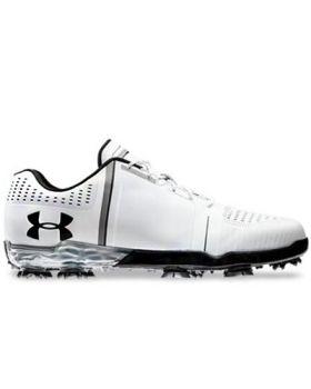 Under Armour Spieth One Golf Shoes - White/Black