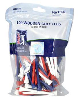 PGA TOUR 100X7CM WOODEN TEES