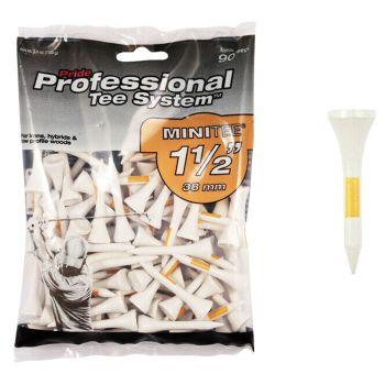 Pride Sports Professional Tee System™ (PTS) Mini 1 1/2 38mm White/Orange Tees - 90 pcs