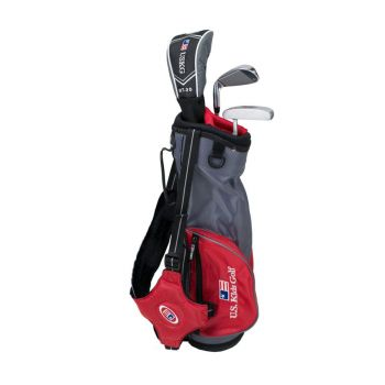 Us Kids Golf Ul39 3 Club All Graphite Carry Set Right Hand - Red