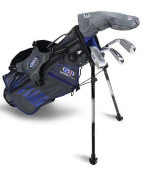 US Kids 2020 UL45 4-Club Stand Bag Set All Graphite - Grey/Blue