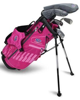 US Kids 2020 UL48-S 4-Club Stand Bag Set All Graphite - Pink