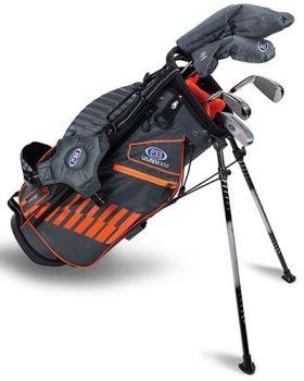 US Kids 2020 UL51-S 5-Club Stand Bag Set All Graphite - Grey/Orange