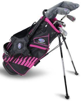 US Kids 2020 UL51-S 5-Club Stand Bag Set All Graphite - Black/Pink