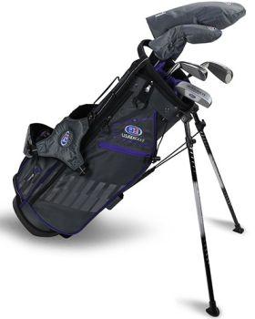 US Kids 2020 UL54-S 5-Club Stand Bag Set All Graphite - Grey/Purple