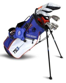 Us Kids Golf TS3-51 10 Club Stand Set V15 All Graphite Shafts Left Hand - Royal/White/Orange