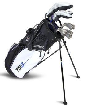 Us Kids Golf TS3-54 10 Club Stand Set V10 All Graphite Shafts - Black/ White /Purple