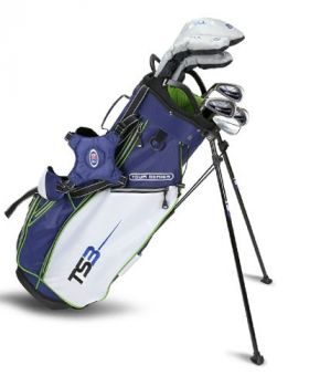 Us Kids Golf TS3-57 10 Club Stand Set V10 All Graphite Shafts - Navy/White/Lime