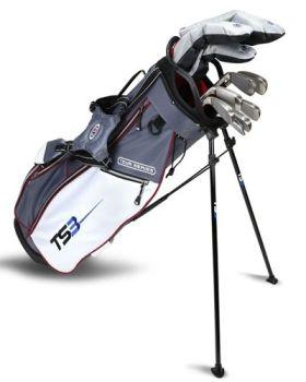 Us Kids Golf TS3-60 10 Club Stand Set V5 All Graphite Shafts Left Hand - Grey/White/ Maroon