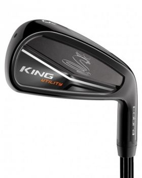 Cobra King Utility Black 3-4* Iron Steel Stiff Flex Shaft