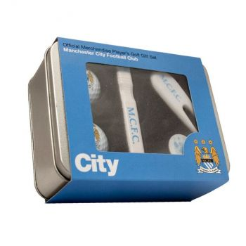 MANCHESTER CITY PLAYERS GOLF GIFT TIN
