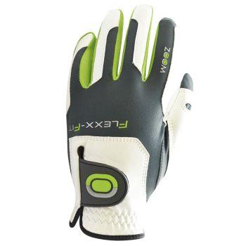 Zoom Flexx Fit Men's Tour Gloves - White/Charcoal/Lime