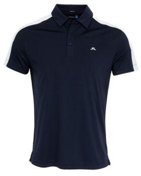 J. Lindeberg Glenn Reg TX Jersey Polo Shirt - Navy (Size XL)
