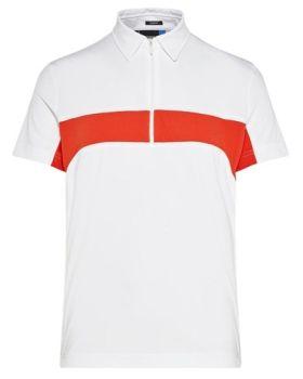 J. Lindeberg Desmond Slim TX Jersey Polo Shirt - White (Size XL)