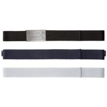 PUMA Men's 6 In 1 Reversible Web Belt - Black/Bright White
