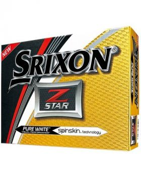 1 Dozen SRIXON Z-STAR WHITE GOLF BALLS or Buy 2 Dozen Get 6 Balls Free*