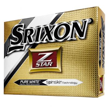 SRIXON Z STAR PURE WHITE GOLF BALLS - 1 DOZEN