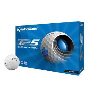 TaylorMade 2021 TP5 Golf Balls 1 Dozen - White