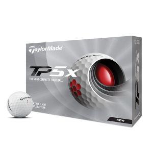 TaylorMade 2021 TP5x Golf Balls 1 Dozen - White