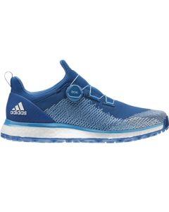 Adidas ForgeFiber BOA Golf Shoes - Dark Marine/Shock Cyan/White
