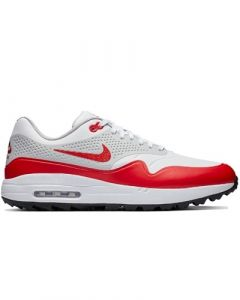 Nike Air Max 1G Shoes - White/University Red/Neutral Grey/Black