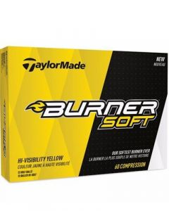 TAYLORMADE BURNER SOFT YELLOW GOLF BALLS - 1 DOZEN